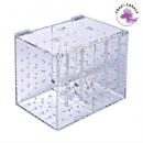 Acrylic quarantaine case 250x170x200mm double